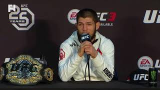 UFC 223: Khabib Nurmagomedov tells Tony Ferguson to Earn Title Shot