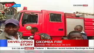 GIKOMBA FIRE : Blaze started at around 4:00 a.m, merchandise of unknown value destroyed