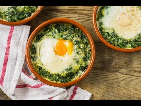 Espinacas con huevos a la crema | sin gluten y sin lactosa