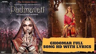 Ghoomar Lyrics| Deepika Padukone | Shahid   - YouTube