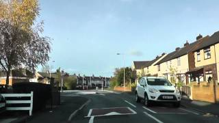 preview picture of video 'Driving Along Spencer's Lane & Waddicar Lane, Liverpool, England 11th November 2012'