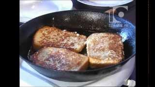 Смотреть онлайн Рецепт сладких французских тостов на сковороде