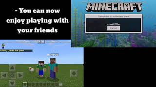 How to play multiplayer in Minecraft PE | Offline | 1.11.0.x + | Fix | 100% Working | Multiplayer