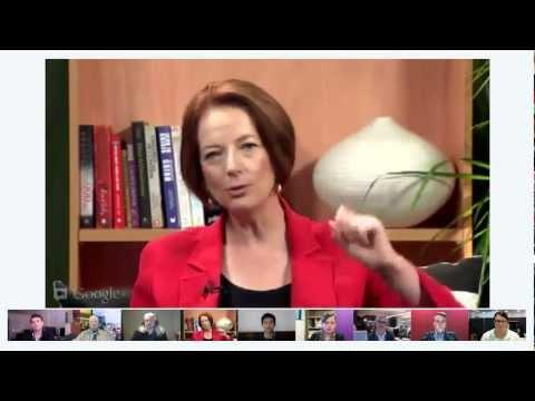Watch Julia Gillard's Google+ Hangout Here