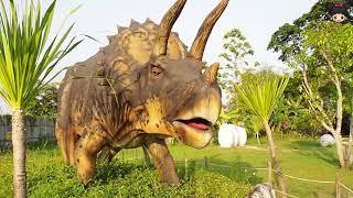 น้องดีไซน์ เที่ยวเมืองลึกลับ หมู่บ้านไดโนเสาร์ มีไดโนเสาร์หลากหลายสายพันธุ์มาก