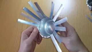 Прикольная Пепельница из алюминиевой банки от напитка / Ashtray from aluminum cans