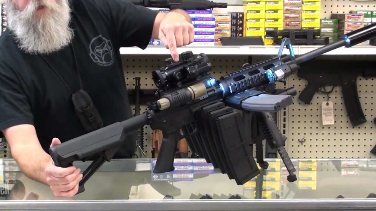 AR-15 Monster Rifle From Hell Comes Loaded With Lasers, Red Dot Sights And More