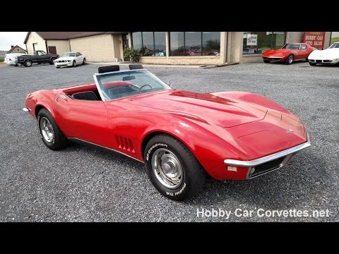 1968 Red Corvette Convertible For Sale Video