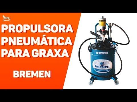 Propulsora Pneumática para Graxa de 20Kg - Video