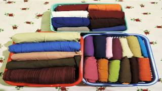 How to Fold Salwar, Churidar & Legging - KonMari Method