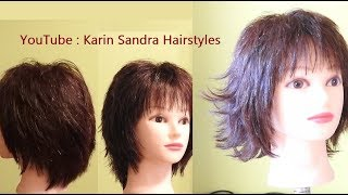 Short Layered Haircut Tutorial Women | Short Layered Bob Haircut | Haircut Short Layers