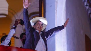 Pedro Castillo habla tras ser proclamado Presidente de Perú