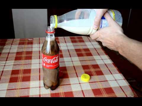 thí nghiệm khi trộn lẫn sữa và cocacola với nhau