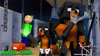 Minecraft Monster School - Baldis First Day In MONSTER SCHOOL!!