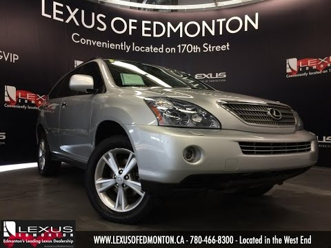 Used Silver 2008 Lexus RX 400h 4WD Hybrid Review | Red Deer Alberta