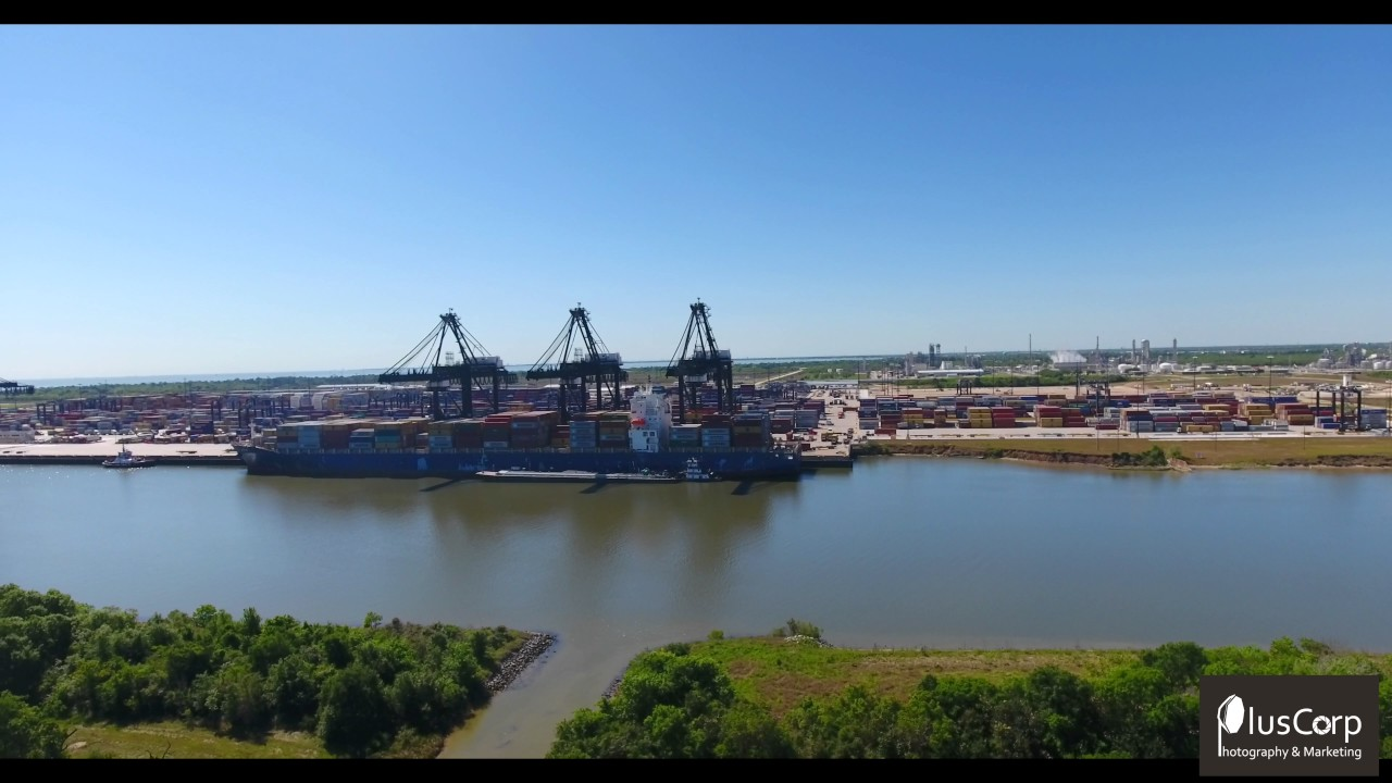 Aerial video tour of industrial park