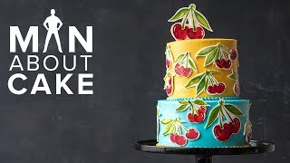Fresh-Picked Cherry Buttercream Cake 🍒 | 1 YEAR MAN ABOUT CAKE ANNIVERSARY SURPRISE