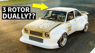Wild 700+hp 3 Rotor Mazda R100... Dually??