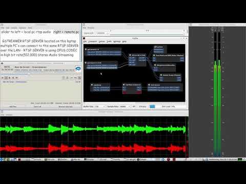 Gstreamer RTSP AUDIO SERVER - CLIENT test over WIFI - using