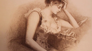 La Dame aux Camélias par Alexandre Dumas Fils (1887) publiée par Albert Quantin et illustrée par Alb