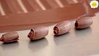Several chocolate decoration ideas for desserts 甜点的几个巧克力装饰创意 Des idées de décoration en chocolat