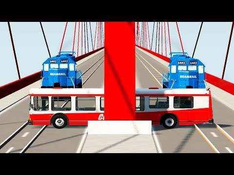 Train Accidents #25 - BeamNG.Drive   CrashTherapy