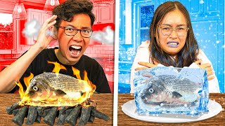HOT Vs COLD Food Challenge with My Sister!