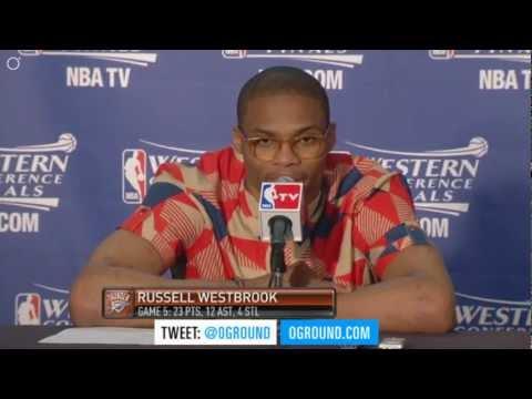 [NEW] Westbrook Weird Shirt & Glasses OKC up 3-2