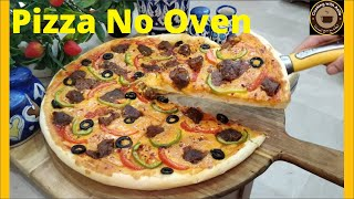 How to make Pizza at Home Without Oven - How To Make Pizza in Frying Pan - Pizza on Stove