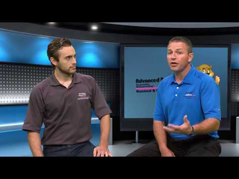 Ben Bates, Vice President of Advanced Basement Systems and Tom Blackburn, one of the company's veteran System...