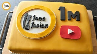 1 Million Subscribers Celebration With Fondant Cake Recipe By Food Fusion