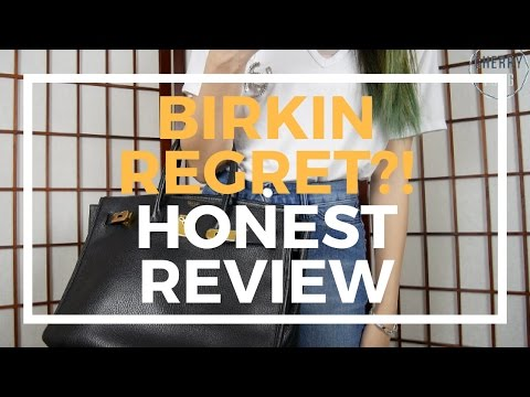 HERMES BIRKIN REGRET: HONEST REVIEW, Mod Shot, Close Up, Reasons | Cherry Tung