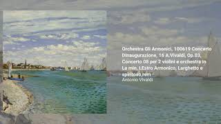 "Concert no. 8 Op. 3 in Amin for 2 violins and orchestra ""Lestro Armonico"""