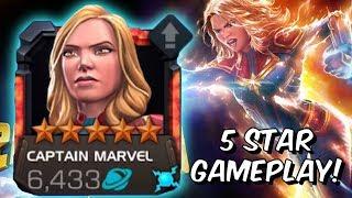 5 Star Captain Marvel 2019 Rank Up & Gameplay - INSANE BURST MODE - Marvel Contest of Champions
