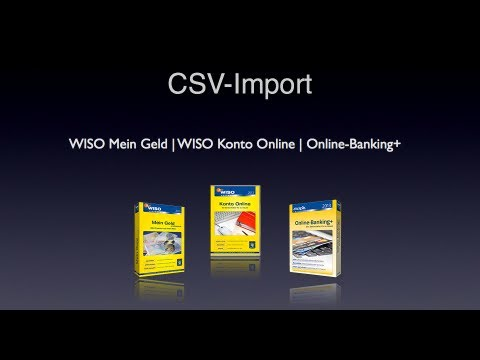 (Buhl) CSV Import in WISO Mein Geld   WISO Konto Online   Online-Banking+ [FullHD - 1080p]
