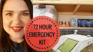 72 Hour Emergency Kit | Disaster Preparedness