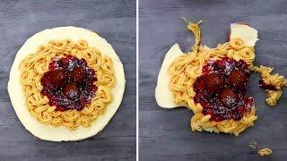 Кулинарные Идеи Рецептов | Торт с спагетти и клубники | Пицца из Кексов - SimpleTips {2019}