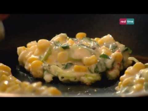 Cucina con Ramsay # 85:  Frittelle di mais dolce con salsa di yogurt