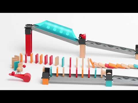 Youtube Video for Robot Factory Domino - 122 piece Wooden Set