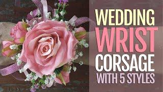 Wedding Wrist Corsage for Less than Dollar