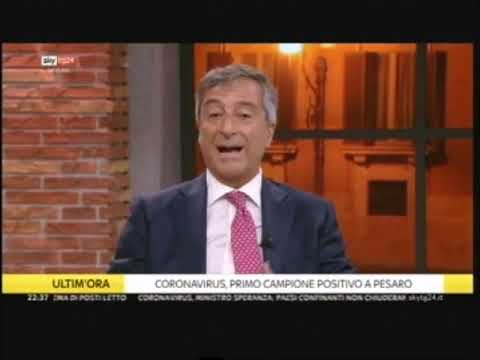Coronavirus: intervento di Nino Cartabellotta nel programma Skyline - 25/02/2020 Skytg24