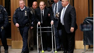 video: Harvey Weinstein accused of 'acting' as he shuffles into court on zimmer frame at start of long-awaited trial