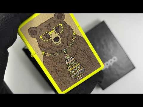 24839 Bear Зажигалка Zippo Classic Lemon