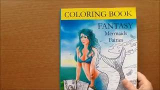 Fantasy Mermaids Fairies By Alena Lazareva Colouring Book Flipthrough