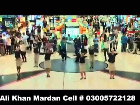 People dancing with pashto song in dubai airport