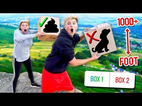 DONT Drop The Wrong MYSTERY BOX Off The CLIFF!! (you Decide)