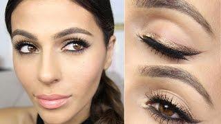 Bronze Winged Eyeliner Tutorial | Eye Makeup Tutorial | Teni Panosian