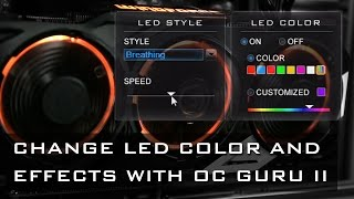 Customize LED colors and effects!
