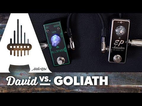 """David vs Goliath"" Boost Pedal Challenge - Tone City All Spark vs Xotic EP Booster"