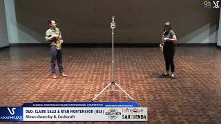 DUO Claire SALLY & Ryan MONTEMAYOR play Blow down by B. Cockcroft #adolphesax
